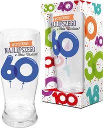 """BGtech Szklanka do piwa Baloniki 500 ml """"60 lat"""" uniwersalny"""