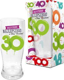 """BGtech Szklanka do piwa Baloniki 500 ml """"30 lat"""" uniwersalny"""