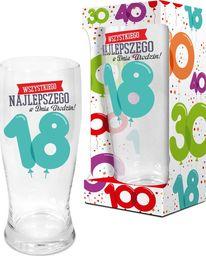 """BGtech Szklanka do piwa Baloniki 500 ml """"18 lat"""" uniwersalny"""