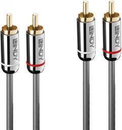 Kabel Lindy RCA (Cinch) x2 - RCA (Cinch) x2 5m srebrny (35348)
