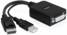 Adapter AV Delock DisplayPort - DVI-I 0.2m czarny (61855)
