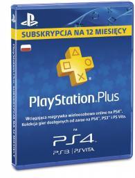 Abonament 12 miesięcy  Playstation Plus