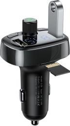 Transmiter FM Baseus TM01 2-PORT USB CAR CHARGER + TRANSMITER FM Czarny