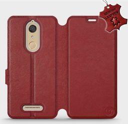 Mobiwear Wiko View -Etui na telefon, case, obudowa, pokrowiec wzór Dark Red Leather uniwersalny