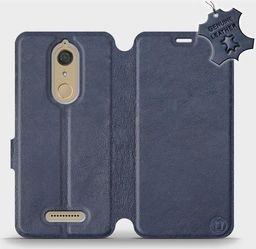 Mobiwear Wiko View -Etui na telefon, case, obudowa, pokrowiec wzór Blue Leather uniwersalny