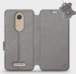 Mobiwear Wiko View -Etui na telefon, case, obudowa, pokrowiec wzór Gray Leather uniwersalny