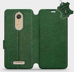 Mobiwear Wiko View -Etui na telefon, case, obudowa, pokrowiec wzór Green Leather uniwersalny