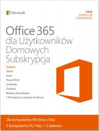 Microsoft Office 365 Home Premium PL 32/64-bit Subskrypcja 1 rok Medialess (6GQ-00173)