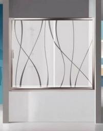Parawan nawannowy Sanplast TX 2-częściowy szkło przejrzyste, profil srebrny (600-271-1530-38-401)