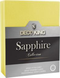Decoking Prześcieradło Sapphire Collection 180x200 cm żółte