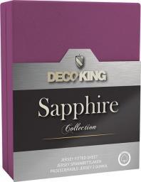 Decoking Prześcieradło Sapphire Collection 140x200 cm fioletowe