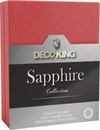 Decoking Prześcieradło Sapphire Collection 120x200 cm czerwone