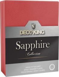 Decoking Prześcieradło Sapphire Collection 140x200 cm czerwone