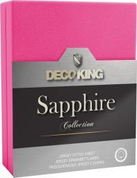 Decoking Prześcieradło Sapphire Collection 180x200 cm różowe