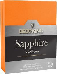 Decoking Prześcieradło Sapphire Collection 180x200 cm pomarańczowe
