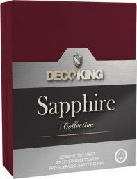 Decoking Prześcieradło Sapphire Collection 120x200 cm bordowe