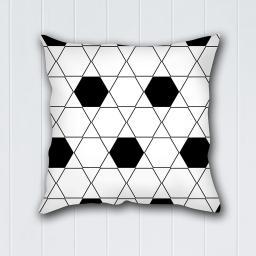Decoking Poszewka na poduszkę Hypnosis Collection Harmony biało-czarna 40x40 cm