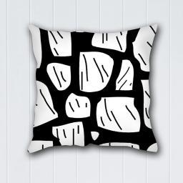 Decoking Poszewka na poduszkę Hypnosis Collection BrokenGlass czarno-biała 40x40 cm