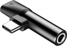 Adapter USB Baseus USB C - USB C USB C - mini-jack Czarny (CATL41-01)