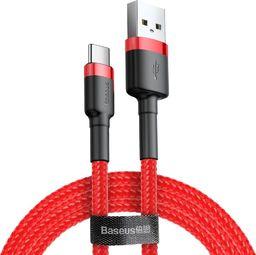 Kabel USB Baseus Kevlar USB do Type-C, 3A, 1 metr, czerwony