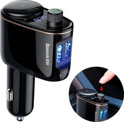 Transmiter FM Baseus do samochodu Baseus 2x USB, Bluetooth - czarny