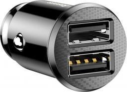Ładowarka Baseus samochodowa Grain 2x USB 5V 3.1A, czarna