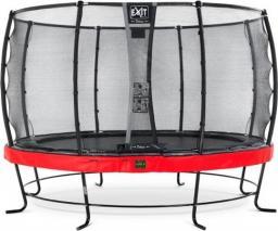 EXIT Trampolina Elegant Premium z siatką Deluxe czerwona 427cm