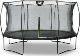 EXIT Trampolina ogrodowa z siatką zewnętrzną Silhouette czarna 12FT 366cm