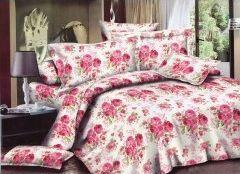 Pościel 140x200 cm + 2 poduszki 70x80 cm + nakrycie 180x220 cm różowa