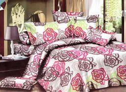 Pościel 160x200 cm + 2 poduszki 70x80 cm + nakrycie 180x220 cm biało-różowa