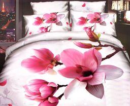 Pościel 140x200 cm + poduszka 70x80 cm różowa
