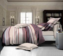 Pościel 160x200 cm + 2 poduszki 70x80 cm beżowo-kremowa