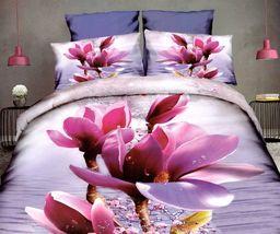 Pościel 160x200 cm + 2 poduszki 70x80 cm różowa