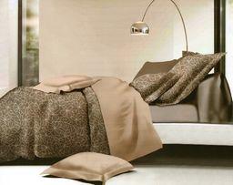 Pościel 160x200 cm + 2 poduszki 70x80 cm brązowa