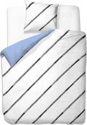 Pościel Simplicity 135x200 cm + poduszka 80x80 cm biało-czarna