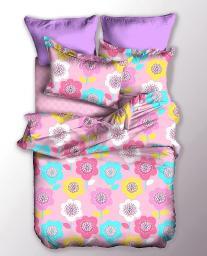 Pościel Teddy  155x220 cm + poduszka 80x80 cm różowa