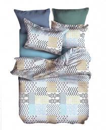 Pościel Muster 135x200 cm + poduszka 80x80 cm biało-beżowa