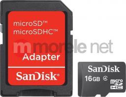 Karta SanDisk MicroSDHC 16 GB Class 4  (SDSDQM016GB35A)