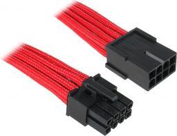 BitFenix Przedłużacz EPS12V 8-Pin 45cm - opływowy czerwono czarny (BFA-MSC-8EPS45RK-RP)