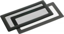 DEMCiflex Filtr przeciwkurzowy 2x40mm - czarny ( 2x40mm Type2 black mesh/magnes )