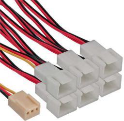 InLine Adapter 3-Pin na 6x 3-Pin do wentylatorów (33436)