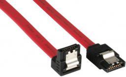 InLine Kabel SATA 30cm kątowy - czerwony (27703V)