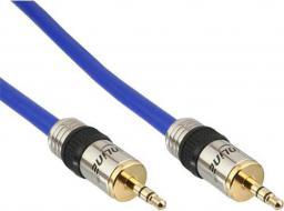 Kabel InLine MiniJack 3.5 mm - MiniJack 3.5 mm, 3, Niebieski (99953P)