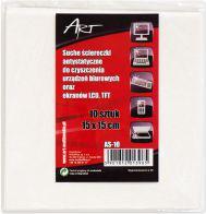 ART Ściereczki antystatyczne suche 15x15cm do LCD/TFT/ 10szt. (CZART AS-10)
