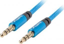 Kabel Lanberg MiniJack 3.5 mm - MiniJack 3.5 mm, 1, Niebieski (CA-MJMJ-10CU-0010-BL)