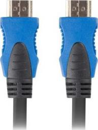 Kabel Lanberg HDMI - HDMI 0.5m czarny (CA-HDMI-20CU-0005-BK)