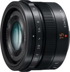 Obiektyw Panasonic Leica DG SUMMILUX 15mm f/1.7 ASPH Czarny (H-X015E-K)