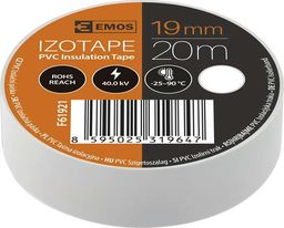 Emos PVC izoliacinė juosta IZOTAPE ULTRA 19/20 balta
