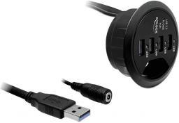 HUB USB Delock Biurkowy 4-portowy hub USB 3.0 (61989)