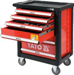 Wózek narzędziowy Yato 6 sztuflad z wyposarzeniem 185szt. (YT-55307)